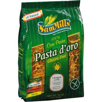 Pasta D Oro Sam Mills Pasta d'oro Gluten Free 100% Lasagna Corn Pasta, 16 oz, (Pack of 6)