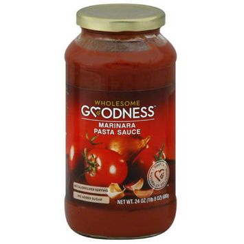 Wholesome Goodness Marinara Pasta Sauce, 24 oz, (Pack of 12)