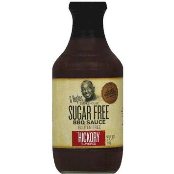 G Hughes Smokehouse Sugar Free Hickory Flavored BBQ Sauce, 18 oz, (Pack of 6)