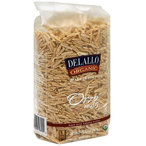 Delallo Orzo Pasta, 1 lb (Pack of 16)