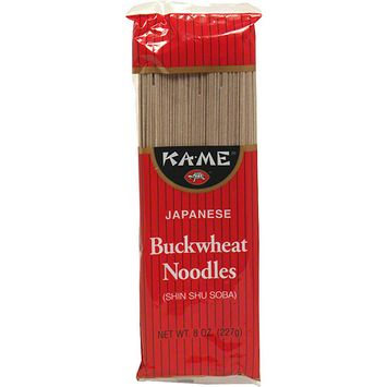 Kame Ka-Me Japanese Buckwheat Shin Shu Soba Noodles, 8 oz (Pack of 12)