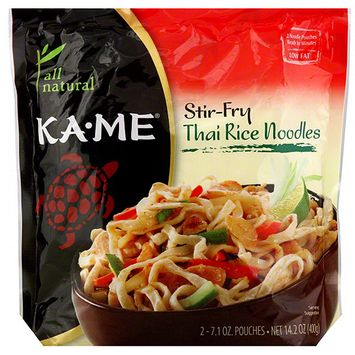 Kame Ka-Me Stir-Fry Thai Rice Noodles, 14.2 oz (Pack of 6)