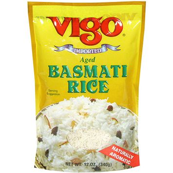 Vigo Aged Basmati Rice, 12 oz (Pack of 12)