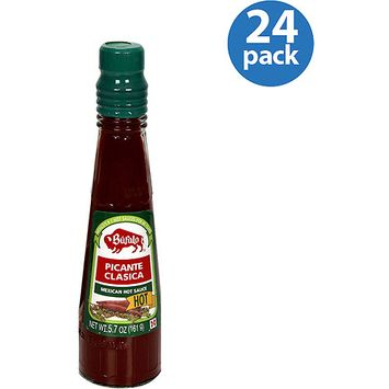 Buffalo Brand Bufalo Picante Classica Hot Mexican Hot Sauce, 5.7 oz, (Pack of 24)