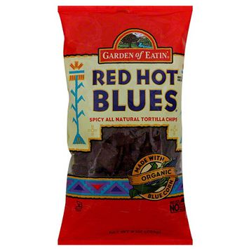 Garden of Eatin' Red Hot Blues Spicy All Natural Tortilla Chips, 8.1 oz (Pack of 12)