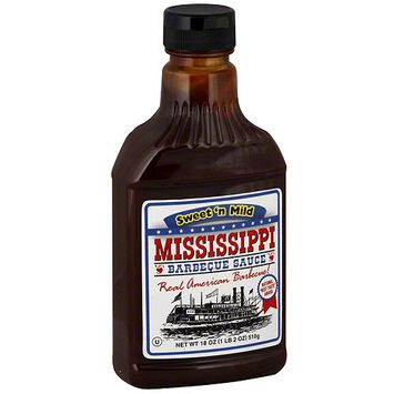 Mississippi Bbq Mississippi Barbecue Sauce Sweet N Mild Barbecue Sauce, 18 oz (Pack of 6)
