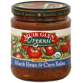 Muir Glen Medium Black Bean & Corn Salsa, 16 oz (Pack of 6)