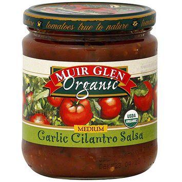 Muir Glen Medium Garlic Cilantro Salsa, 16 oz (Pack of 6)