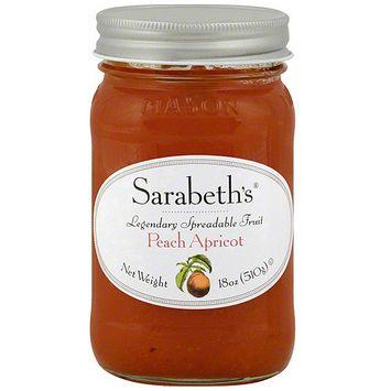 Sarabeth's Peach Apricot Spreadable Fruit, 18 oz (Pack of 6)