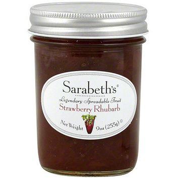 Sarabeth's Strawberry Rhubarb Spreadable Fruit, 9 oz (Pack of 6)