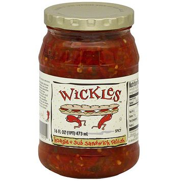 Wickles Hoagie & Sub Sandwich Relish, 16 oz (Pack of 12)
