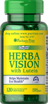 Puritan's Pride 2 Units of Herbavision with Lutein and Bilberry-120-Softgels