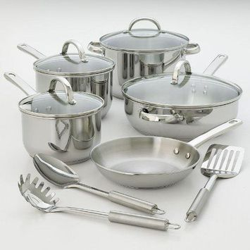 Kitchen A La Carte 12-Pc. Stainless Steel Cookware Set