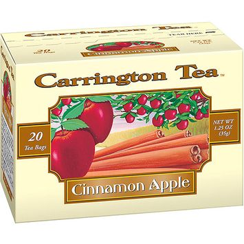 Carrington Tea Cinnamon Apple Tea Bags, 20 count per box, 1.25 oz, Pack of 6
