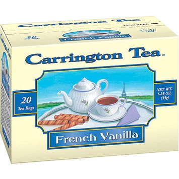 Carrington Tea French Vanilla Tea Bags, 20 count per box, 1.25 oz, Pack of 6