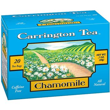 Carrington Tea Chamomile Tea Bags, 20 count per box, .7 oz, Pack of 6
