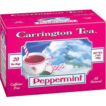 Carrington Tea Peppermint Tea Bags, 20 count per box, .7 oz, Pack of 6
