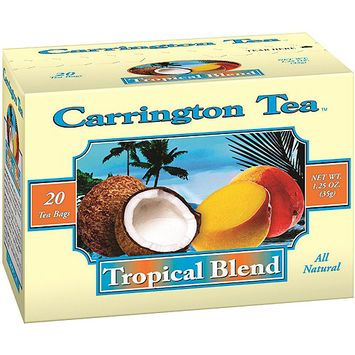 Carrington Tea Tropical Blend Tea Bags, 20 count per box, 1.25 oz, Pack of 6