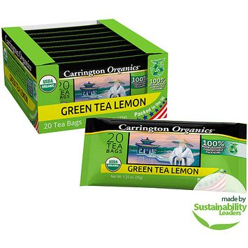 Carrington Tea Carrington Organics Green Tea Lemon Tea Bags, 20 count, 1.25 oz