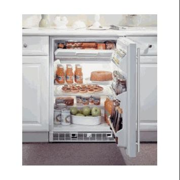 Marvel 61RF-BS-F-R 24 Refrigerator/Freezer with 5.3 cu. ft. Refrigerator Capacity 2 Removable Tempered Glass Shelves Manual Freezer Defrost Interior Light Right Hinge: Stainless
