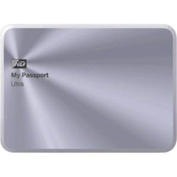 Western Digital WD My Passport Ultra Metal Edition 3TB USB 3.0 Portable Hard Drive - Silver