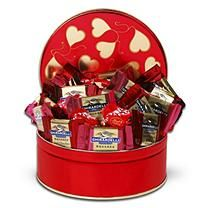 Alder Creek Gift Baskets Ghirardelli Chocolate Squares Valentine Tin, 24 pc