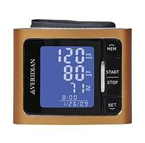 Veridian Metallic Orange Blood Pressure Wrist Monitor