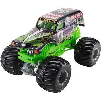 Mattel Hot Wheels Monster Jam Grave Digger Die-Cast Vehicle, 1:24 Scale