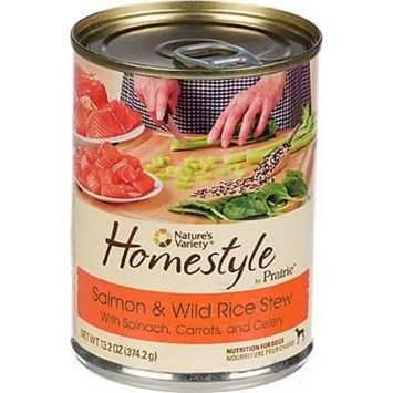 Nature's Variety Homestyle by Prairie Salmon & Wild Rice Stew Canned Dog Food, Case of 12
