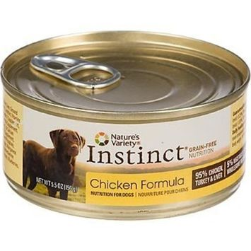 Nature's Variety Instinct Grain-Free Chicken Canned Dog Food, 5.5 oz., Case of 12