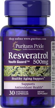 Puritan's Pride 2 Units of Resveratrol 500 mg-30-Capsules