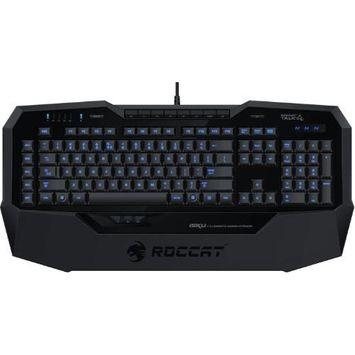 Roccat ISKU Blue Key Illuminated Gaming Keyboard, Black