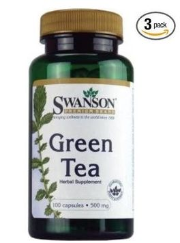 Swanson Premium Green Tea 500 mg 100 Caps