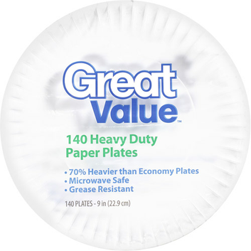 Great Value Paper Plates