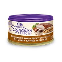 Wellness Signature Selects Shredded White Meat Chicken and Turkey Entree in Sauce Canned Cat Food