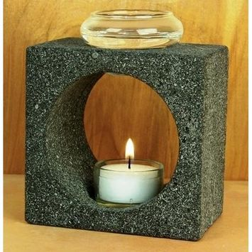 Aloha Bay - Natural Lavastone Aroma Lamp with Tea Light, 1 ea