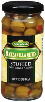 Springfield Manzanilla Stuffed W/Minced Pimento Olives