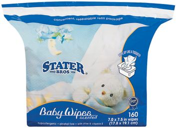 Stater Bros. Scented Baby Wipes 160 Ct Bag