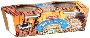 Springfield Maple & Brown Sugar Microwaveable Oatmeal