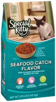special kitty™ seafood catch flavor dry cat food