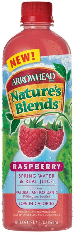 Arrowhead Nature's Blends Spring Water & Real Juice Raspberry