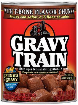 Gravy Train Chunks In Gravy With T-Bone Flavor Chunks Wet Dog Food, 13.2-Ounce Can