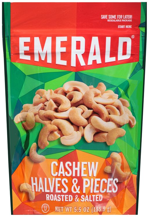 emerald® roasted & salted cashew halves & pieces