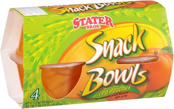 Stater bros® Diced Peaches Snack Bowls