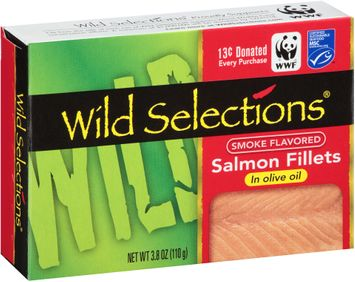 Wild Selections® Smoke Flavored Salmon Fillets in Olive Oil