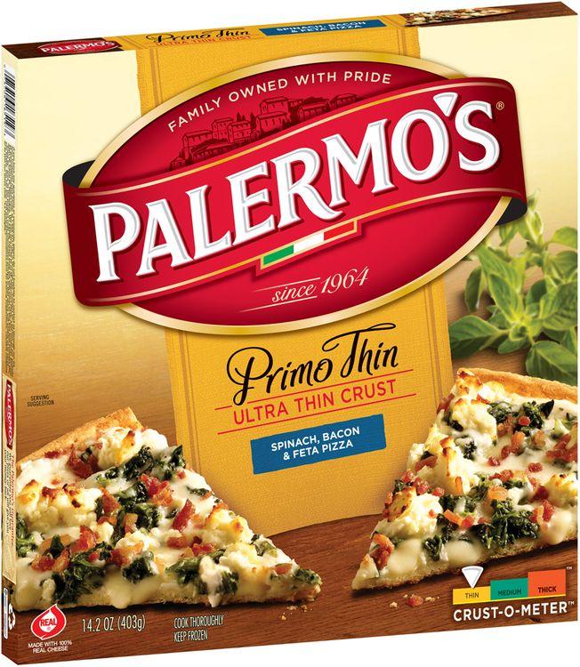 Palermo's Primo Thin Ultra Thin Crust Spinach, Bacon & Feta Pizza,
