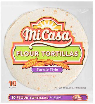 Mi Casa® Burrito Style Flour Tortillas 10 ct Bag