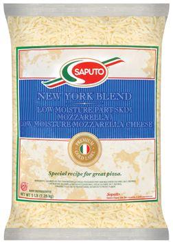 Saputo® New York Low Moisture Part Skim Mozzarella & Low Moisture Mozzarella Cheese Blend
