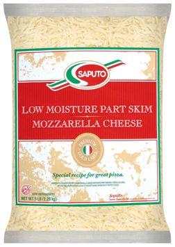 Saputo® Mozzarella Low Moisture Part Skim Shredded Cheese