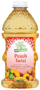 Nature's Nectar Peach Twist Flavored Blend of 3 Juices Fruit Juice Cocktail